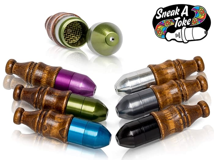 Sneak A Toke Pipe Wood Mouthpiece
